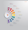template infographic 9 positions for text area vector image vector image