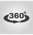 The Angle 360 degrees icon Rotation symbol Flat vector image vector image