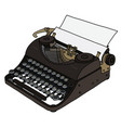 the vintage portable typewriter vector image