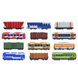 trains transportation passenger and freight vector image