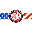 Vote ribbon vector image