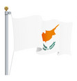 waving cyprus flag isolated on a white background vector image