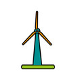 Wind turbine clean energy related icon image vector image