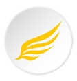 Yellow wing icon flat style vector image vector image