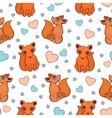 cute fox pattern vector image