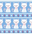 Cute of seamless with cats vector image