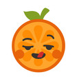 emoji - crazy orange isolated vector image