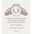 certificate template invitation with floral design vector image