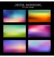 abstract colorful blurred backgrounds timeline vector image vector image