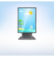 Advertising stand with summer vacation vector image vector image