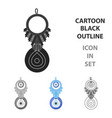 amulet nazar icon in cartoon style isolated on vector image