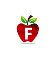 apple letter f logo design template vector image vector image