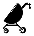 baby carriage pink icon simple black style vector image vector image