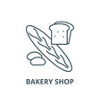 bakery shop line icon bakery shop outline vector image vector image