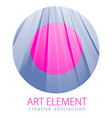 beautiful art element linear texture of surface vector image vector image
