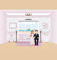 beautiful sweet hotel for just married couple vector image