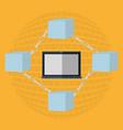blockchain concept design vector image