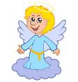boy angel on cloud vector image