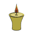 candle flame isolated vector image vector image