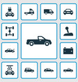 car icons set collection of auto car fixing and vector image vector image
