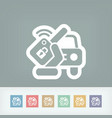 car remote key vector image
