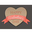 cardboard heart and ribbon vector image vector image