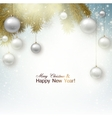 christmas background with balls white xmas baubles