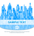 city silhouette family property blurred background vector image vector image