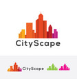 cityscapes logo design vector image vector image