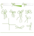 Collection of ribbons ahd bows in twine style vector image vector image