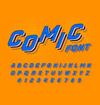 comic font for posters pop art retro game vector image