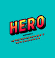 Comics super hero style font