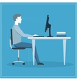Correct Sitting Posture at Computer vector image