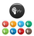 ear icons set color vector image