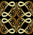 embroidery gold paisley seamless pattern vector image