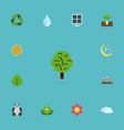flat icons sun power water sky and other vector image vector image