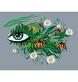 Floral summer eye vector image vector image