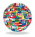 globe flag vector image vector image