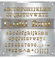 gold coated alphabet letters digits and vector image