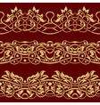 gold floral seamless border design element vector image vector image