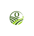 green project solution center initial q vector image vector image