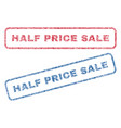 half price sale textile stamps vector image vector image