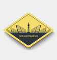 icon solar panels plant and energy vector image