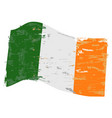 ireland flag with grunge texture vector image vector image