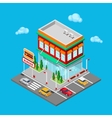 Isometric City Restaurant Fast Food Cafe vector image vector image