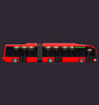 large articulated bus red with modern design vector image vector image