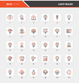 light bulbs flat line web icon concepts vector image vector image