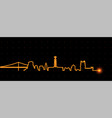 lisbon light streak skyline vector image