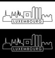 luxembourg skyline linear style editable file vector image vector image