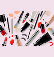 makeup banner template for online beauty store vector image